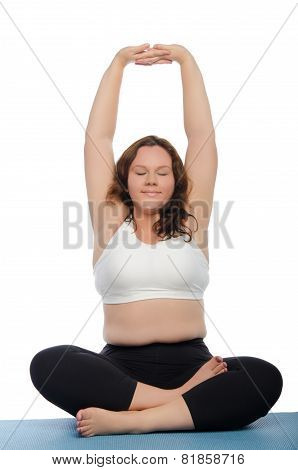Smiling Woman With Overweight Involved In Fitness