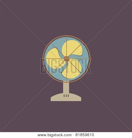Flat Design Electric Fan.