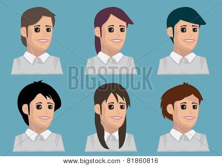 Hairstyle For Ladies Cartoon Vector Illustration