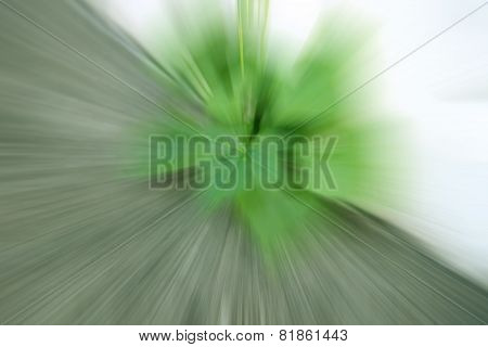 Green Color Tone Radial Motion Blur For Abstract Background