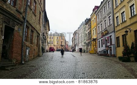 Old Town In The City Center Of Lublin