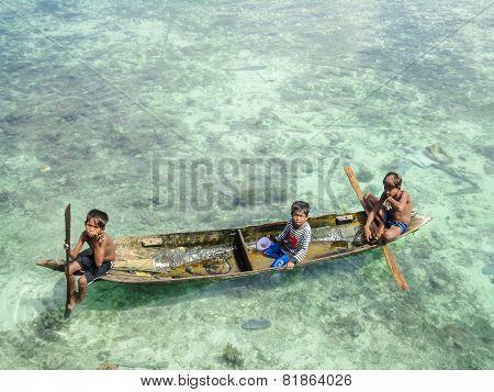 Kids At Mabul Island, Malaysia