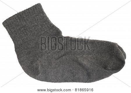 Grey Sock Isolated Background
