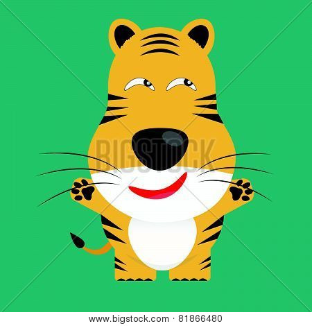 Tricky Bengal Tiger Cartoon Character