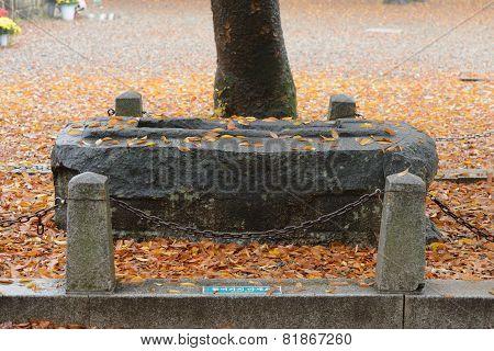 Gyeongju, Korea - October 20, 2014: Hwajaengguksabibu