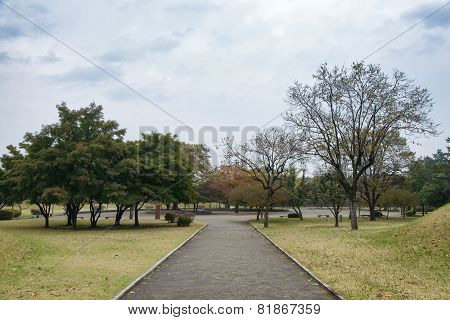 Gyeongju, Korea - October 20, 2014: View Of Daereungwon