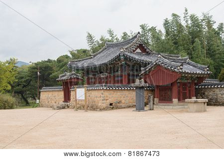 Gyeongju, Korea - October 20, 2014: Sungdeokjeon In Oreung