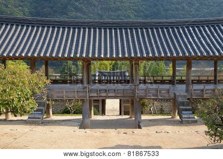 Andong, Korea - October 16, 2014: Mandaeru At Byeongsanseowon