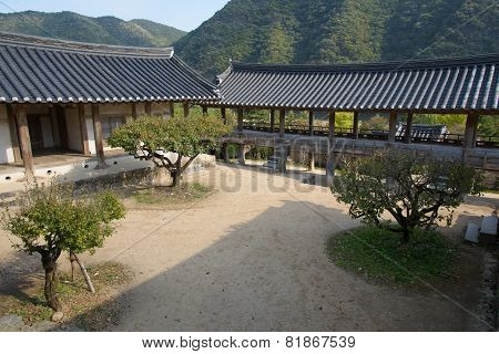 Andong, Korea - October 16, 2014: Byeongsanseowon