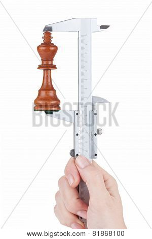 Female Hand Measures Height Chess King