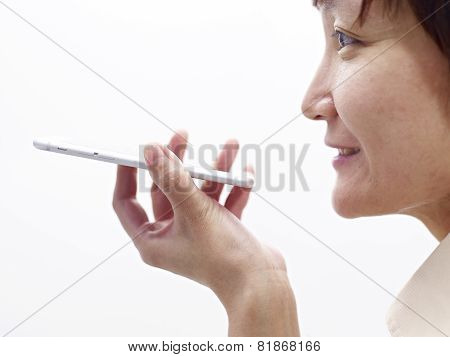 Woman Using Cellphone