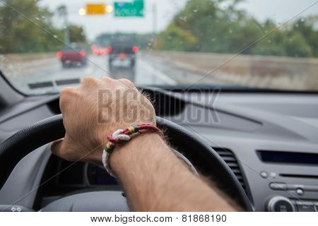 Holding the wheel