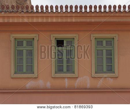 Athens Greece house facade at Plaka