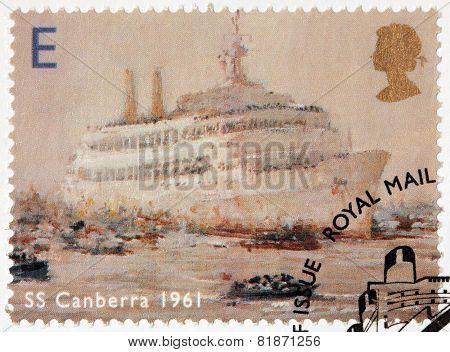 Canberra Liner Stamp