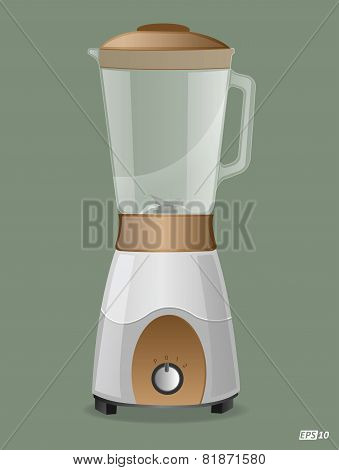 Blender or Table top food grinder - Illustration