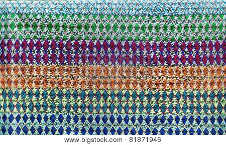 embroidered fabric texture background , beautiful fabric