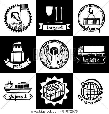 Logistic Emblems Set