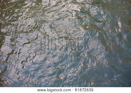 Water In A Stream Or Creek