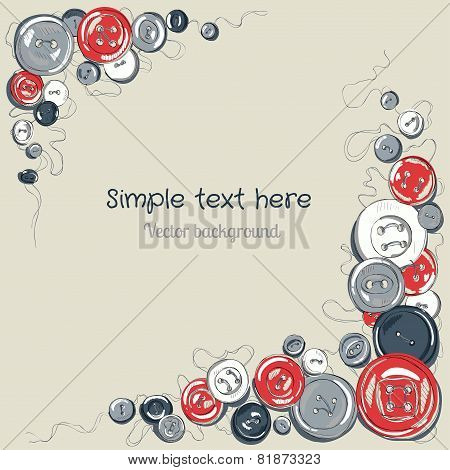 sewed buttons frame for your text