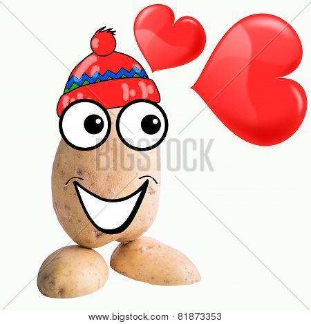 little potato man in love