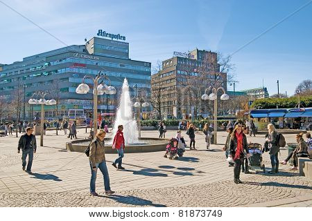 Oslo. Norway. Johanne Dybwad Square