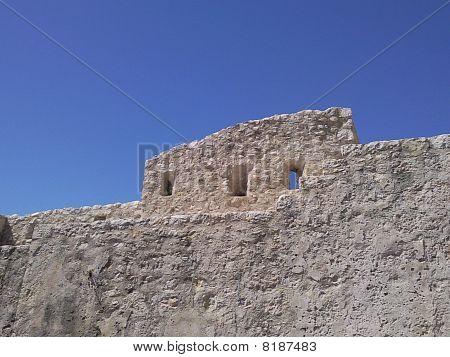 Parapet of building in St. Paul de Vence, France