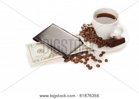 A Cup Of Coffee And 20 Dollars
