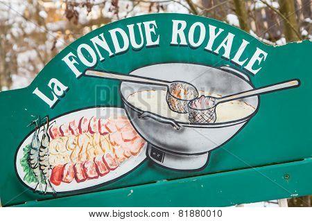 La Fondue Royale - traditional Savoyarde meal