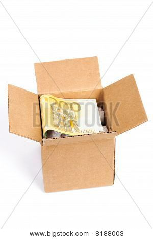 Package Box With Euro