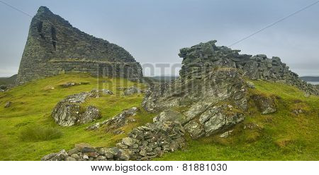 Scottish Antique Stone Construction, Broch. Carloway. Lewis Isle