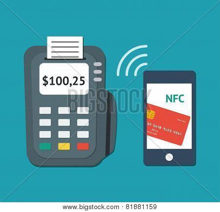 NFC technology concept