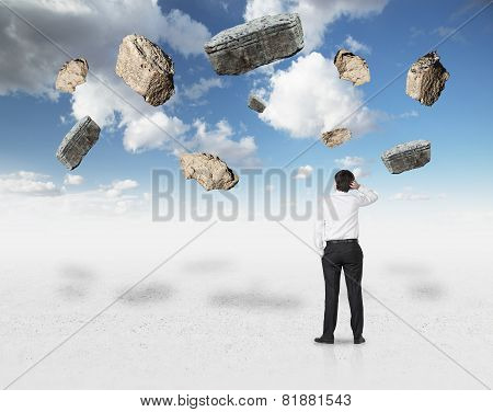 Falling Rock In Sky