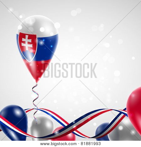 Slovak flag on balloon