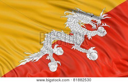 3D Bhutanese flag