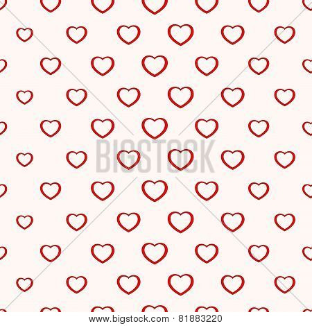 Seamless simple minimalistic heart background