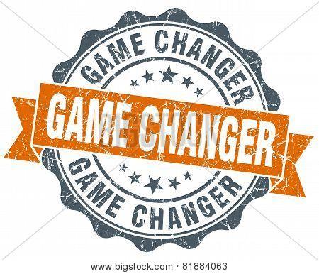 Game Changer Orange Vintage Seal Isolated On White