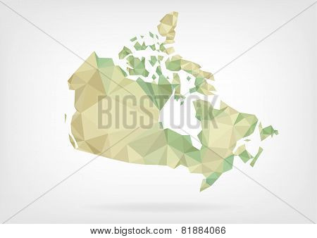 Low Poly map of Canada
