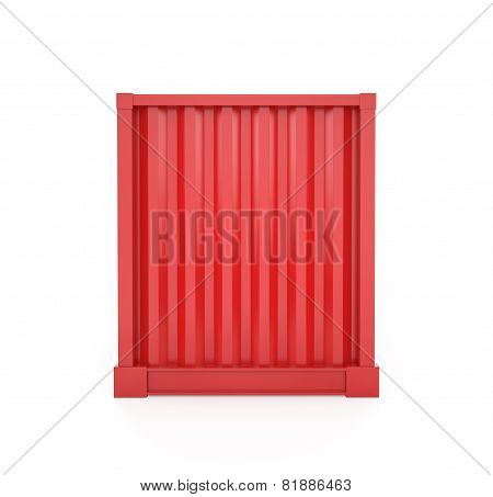 Red Cargo Container, Back