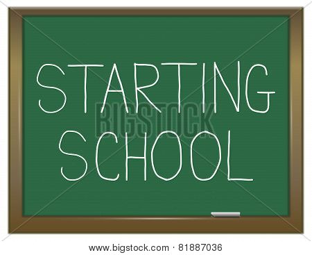 Starting School Concept.