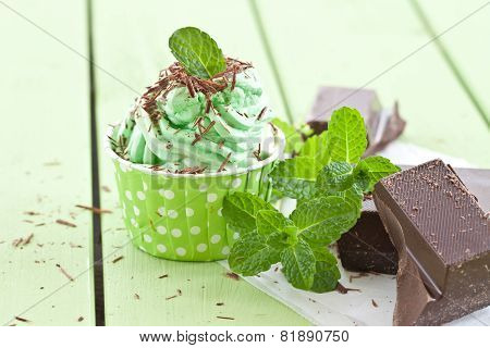 Frozen Yogurt With Mint