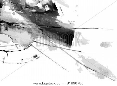 Abstract ink paint vector background