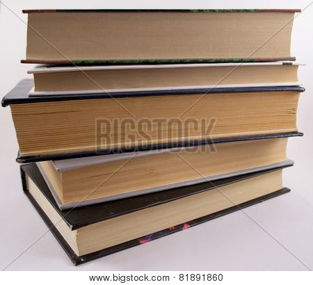 A simple shelf stack of reading material