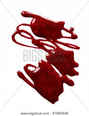 Splash Of Red Nail Polish