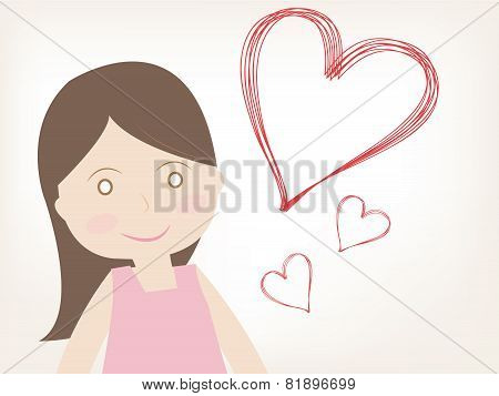 Girl With Heart Of Love