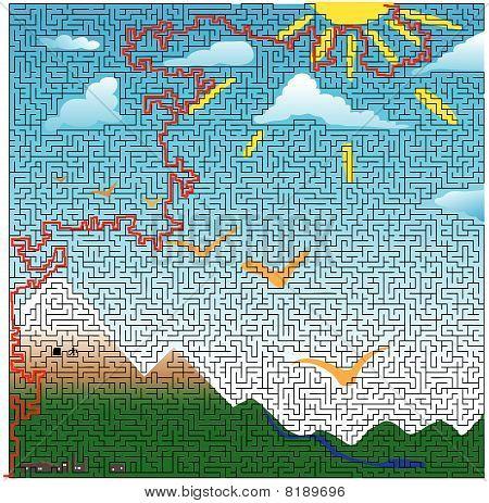 Mountain Scene Maze