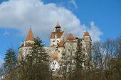 foto of dracula  - Bran castle in the spring season - JPG