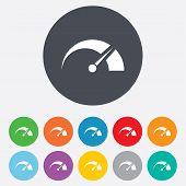 image of speedometer  - Tachometer sign icon - JPG