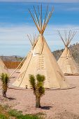 stock photo of wigwams  - National wigwam of American Indians - JPG