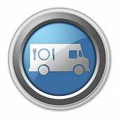 pic of food truck  - Icon Button Pictogram with Food Truck symbol - JPG