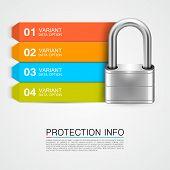 stock photo of keyholes  - Padlock icon keyhole art banner - JPG